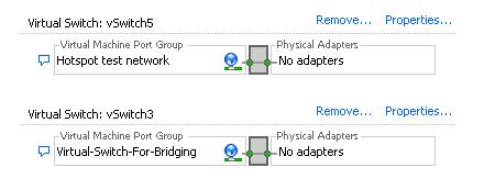 Bridging ESX Virtual Switch Networks using MikroTik and EoIP/Vlan